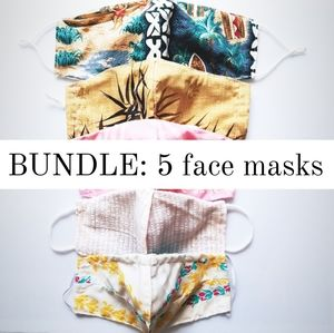 5 face mask bundle